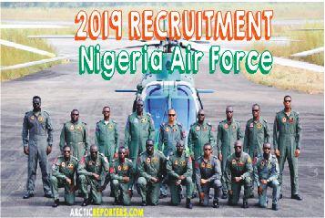 nigeria air force 2019 recruitment