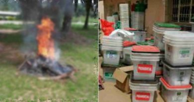 ballot box snatcher burnt in akwa - Ibom