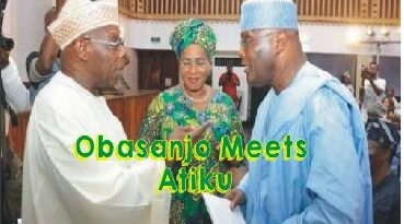 Atiku meets Obasanjo at Abeokuta
