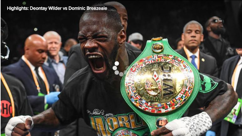 Deontay Wilder vs Dominic Breazeale [Highlights]