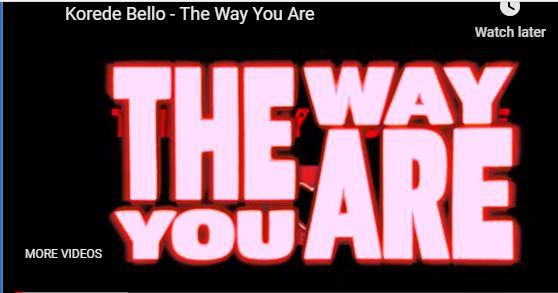 THE WAY THAT YOU ARE KOREDO BELLO AUDIO