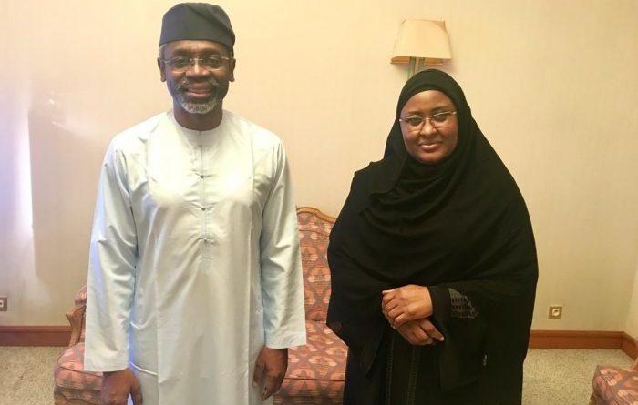 gbajagbiamila and aisha buhari