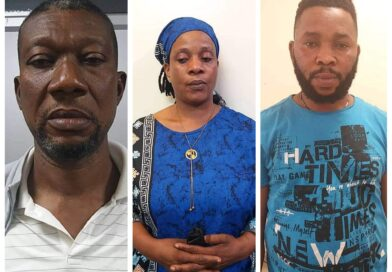 """The National Drug Law Enforcement Agency (NDLEA) recovers """"35wraps"""" of Cocaine from a lady's underwear at Lagos Airport."""